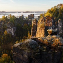 picturesque view on to the Bastei Saxony