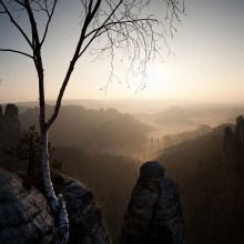 Fantastic view from the Bastei in Germany - discovered with HiVino