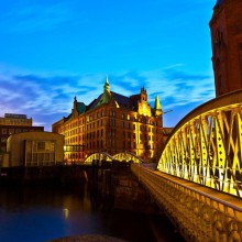 Famous old Speicherstadt in Hamburg discovered with HiVinno