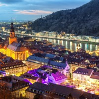 wonderful panoramic view onto Heidelberg Germany