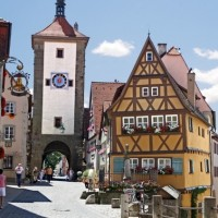 historical inner city of Rothenburg ob der Tauber discovered with HiVino