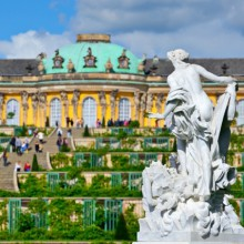 Amazing facade of Sanssouci palace Germany discovered with HiVino
