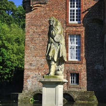 Statue in Anholt castle Germany