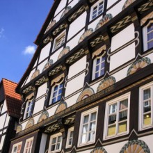 Half-timbered houses in Hamelin - discover Germany with HiVino
