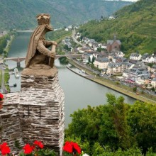 Breathtaking view from Cochem castle