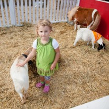 Wonderful petting zoo for kids at Irrland Germany