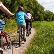 Active family biking in Jasmund National Park - HiVino