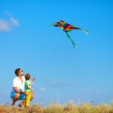 Fly a kite in Wadden Sea National Park of Lower Saxony