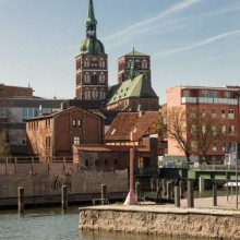 beautiful view to Stralsund Germany