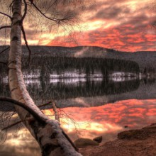 wonderful sunset at Schluchsee Germany- HiVino