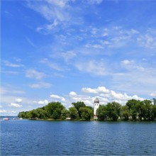 "The island ""Fraueninsel"" at Chiemsee in Germany"