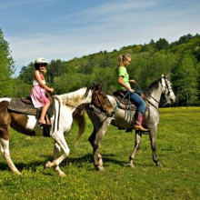 Horseback riding at Lake Ammersee in Germany