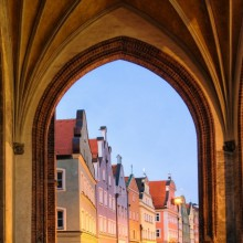 Artistical Archways with views to Landshut