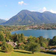 Enjoy the wonderful landscape of Lake Tegernsee in Germany