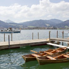 boats tour on Lake Tegernsee in Germany
