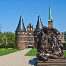 famous national icon the Holstentor in Lübeck discovered with HiVino