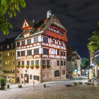 the Albrecht Dürer house in Nuremberg, Germany discovered with hivino