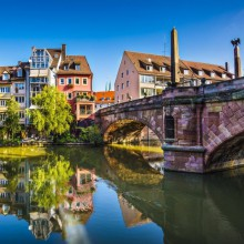 old town of Nuremberg on the Pegnitz river discovered with HiVino