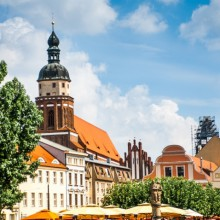Wonderful historic buildings in Cottbus seen by HiVino