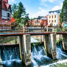 Nice weir in the medieval town Cottbus - HiVino