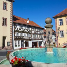 Medieval market square in Steinau – discovered with HiVino