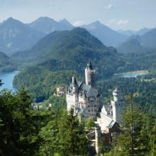 Breathtaking view from Neuschwanstein dicovered with HiVino
