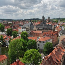 View over Erfurt, Germany, discovered with HiVino