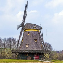 Old windmill in the Hessenpark - discover German history with HiVino
