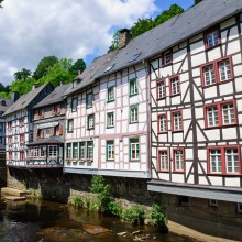Half-timbered houses in Monschau, Germany