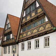Historical half-timbered houses in Lemgo, Germany