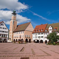 Freudenstadt marketplace - discover Germany with HiVino