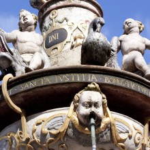 The amazing fountain on the Trier market place - discovered with HiVino