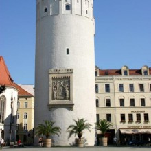 historical tower in Görlitz in Germany