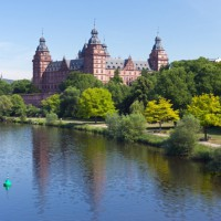 Beautiful Johannisburg Palace in Germany