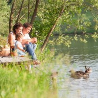 Family at Lietzensee Berlin discovered with HiVino