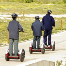 learning how to drive a Segway at BELANTIS in Germany