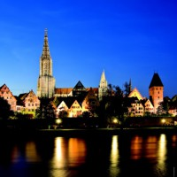 Wonderful night scenery of Ulm, Germany discovered with HiVino