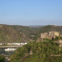 breathtaking view on to the Rheinfels castle, Germany