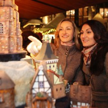 Wonderful stall with hand crafted goods on Christmas market Aachen, Germany(c) A. Steindl, ats