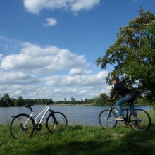 Breathtaking cycling trail on Havel river, Brandenburg