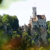 Wonderful Lichtenstein castle, Germany