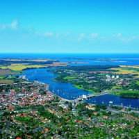 Breathtaking panoramic view over Kappeln, Germany