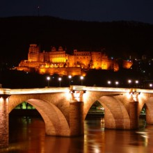 Night scenery of Heidelberg castle Germany