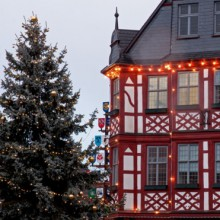 beautiful timbered town hall in Lorsch- HiVino