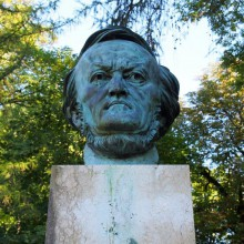 sculpture of Richard Wagner in Bayreuth Germany