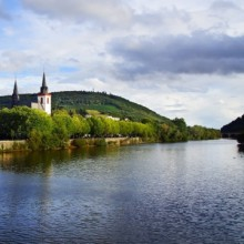 Fantastic views all along the rhine river Germany