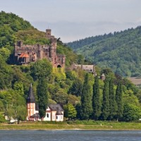 Beautiful valley of Loreley in Germany with HiVino
