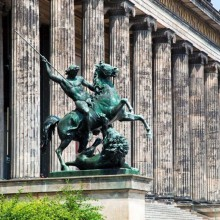 german old museum on museum island Berlin discovered with HiVino