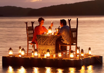 romantic dinner at a lake in Germany discovered with HiVino