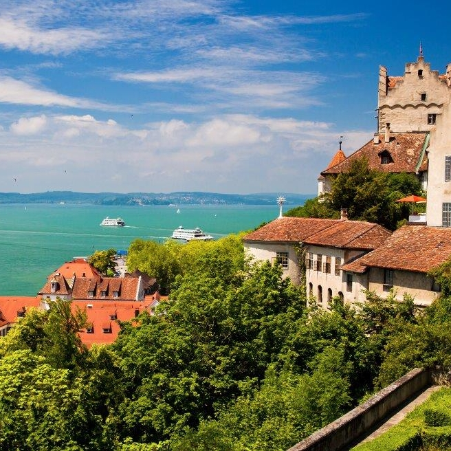 Meersburg Fortress At Lake Constance